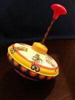 Vintage Circus Animals Train Tin Spinning Vintage Toy ~ Ohio Art