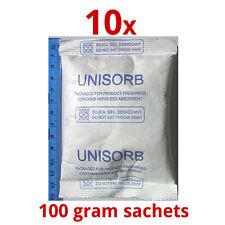 10 x 100 gm Silica Gel Desiccant Moisture Absorber Dehumidifier Air Dryer Mould