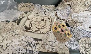 50 Antique/ Vintage Doilies Crochet, Lace, Cotton etc
