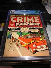 1953  CRIME AND PUNISHMENT #60 CGC 8.5  ~Lev Gleason Publications
