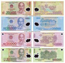Vietnam 10000 + 20000 + 50000 + 100000 Dong 2014-16 Set di 4 BANCONOTE 4 PZ UNC