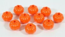 NEW LEGO MINIFIGURE ORANGE PUMPKIN PART X10 HALLOWEEN FOOD ACCESSORY - GENUINE