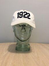 1922 Hollister dad hat snap back white  hat blue lettering