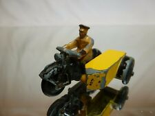 DINKY TOYS 272 MOTORCYCLE ANWB DUTCH - YELLOW + BLACK 1:43? - GOOD CONDITION