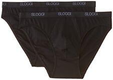 Sloggi Basique Mini 2p Pack 2 Slip pour Hommes Noir (0004) 32 CS