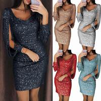 New Women V-neck Bodycon Dresses Slim Glitter Tassel Elegant Ladies Party Dress