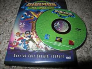 DVD digimon the movie digital monsters animation rare,played works