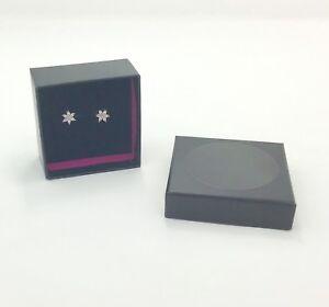 9ct Gold Cubic Zirconia Flower Stud Earrings, Boxed, RRP £49.99