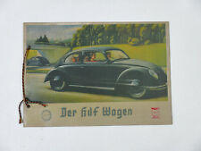VINTAGE Prospekt Der KdF Wagen 1939 Volkswagen VW Käfer Werbeprospekt