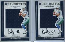 (2) Dak Prescott Panini Preferred Rookie Signature NFL Jersey LOT SP AUTO /199