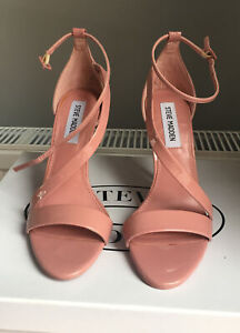 Steve Madden Women's high heeled sandals pink patent leather Size UK 4