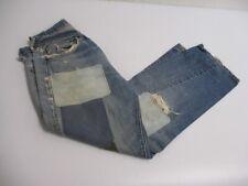 Vintage Levi's 501 BIG E Jeans TRASHED DESTROYED Patchwork Size 31 X 28