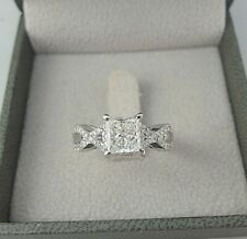 Cut Diamond Wedding Engagement Ring Certified 1.75 carat D Vs1 Princess