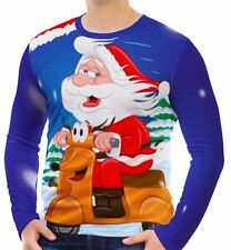 Cotton Blend Christmas Stretch T-Shirts for Men