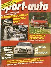 SPORT AUTO 272 1984 GP ALLEMAGNE AUTRICHE HOLLANDE 1000 LACS GOLF II OETTINGER