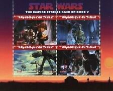 Chad Star Wars Stamps 2020 CTO Empire Strikes Back Han Solo Princess Leia 4v M/S