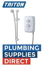 * Triton Avena 8.5kW Electric Shower - White / Chome - c/w Riser Kit - SPAVENA8