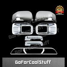 2015-2016 FORD F150 Fog Lamp+Mirror+2 Handles+Rear 3rd Break Light Chrome Cover