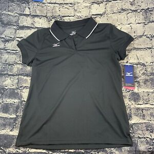 Mizuno Womens  Medium Sleeveless Drylite Shirt Black & White