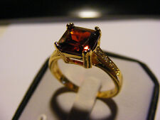 Edler Damen - Ring  Rubin/Rot   echt Gold 750/18 Karat vergoldet  Top !