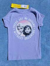 NWT Gap Kids Disney Frozen Elsa & Anna Dreamer Graphic PJ/Pajama Tee/Top, Size 6