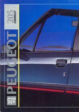 Peugeot 205 Cabriolet 1992 Dutch market sales brochure