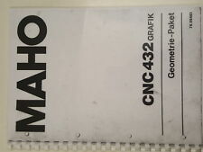 MAHO CNC 432 Grafik Geometrie Paket Handbuch MH 76.00461 Anleitung CNC