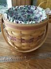 Longaberger 1996 Sweet Pea Basket May Series Retired Combo Liner Protector 14915