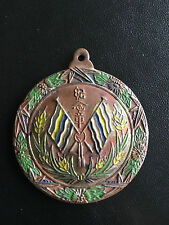1912 - 1930 CHINA EARLY REPUBLIC UNKNOWN BRONZE ENAMEL MEDAL BADGE
