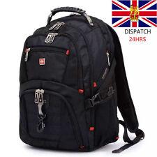"Wenger Swiss Gear 17"" Chicos Hombres bolsas de viaje Portátil MacBook Mochila Caminata Reino Unido tienda"