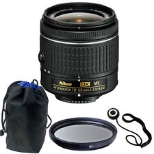 Nikon 18-55mm f/3.5-5.6G VR AF-P DX Lens for D5500/D5300/D3300 + Accessories
