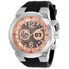 Invicta 31580 Aviator Men's Watch 50mm Chronograph Rose Gold Dial SS Quartz