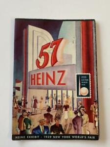 New York World's Fair 1939 Heinz 57 Dome Brochure Advertising Ketchup All Orig
