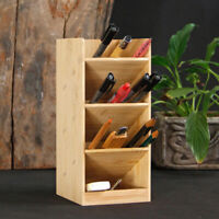 Wooden Pencil Organizer Pen Container Pencil Organizer for Home School Office