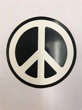 "New ""Black & White Peace Symbol Small"" Sticker / Decal"