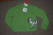 NWT Gymboree Mod Zebra Green Sweater Size 9 and 2 Charms Zebra and Purse