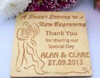 Wedding Favours - Wooden Coaster - Personalised to Order - Wedding Party Decor