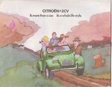 CITROEN 2CV6 ORIGINAL 1975 FACTORY UK SALES BROCHURE