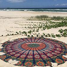 Indian Hippie Mandala Round Beach Throw Bohemian 100% Cotton Tapestry Yoga Mat