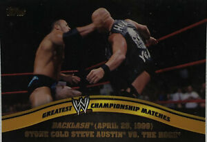 WWE Topps 2014 Greatest WWE Championship Matches (The Rock vs. Stone Cold) #1/20