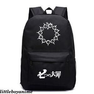 The Seven Deadly Sins Knapsack Nylon Backpack Boys Schoolbag Zipper Laptopbag