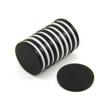 20mm dia x 2mm thick Black Epoxy N42 Neodymium Magnet - 2.6kg Pull (Pack of 10)