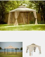 10 ft. x 10 ft. x 12ft. Outdoor Patio Arrow Gazebo with Mosquito Netting 4 sides