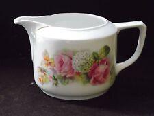 Vintage Hydrangea & Rose Flowers Germany Pitcher Pottery