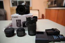 Canon EOS M5 24.2MP Digital SLR Camera Black + 3 Lenses, 3 Batteries & More!