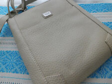 "OSPREY MESSENGER BAG, BEIGE LEATHER 10""X10"" MINT CONDITION"