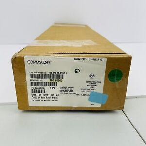 Commscope UNP-U-510-1U-24 Cat5E 24 Port Patch Panel ~NEW~