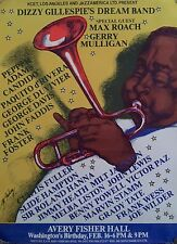 Dizzy Gillespie's Dream Band 1982 Original 18 X 24 Rolled Mint