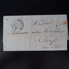 1840 LETTRE COVER CAD T.13 ROCHEFORT POUR AIX / SUPERBE ENTÊTE ORNÉE