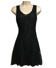 KOOKAI Vtg 90s Y2K Made in France Little Black Dress Lace LBD Cocktail UK 6/8